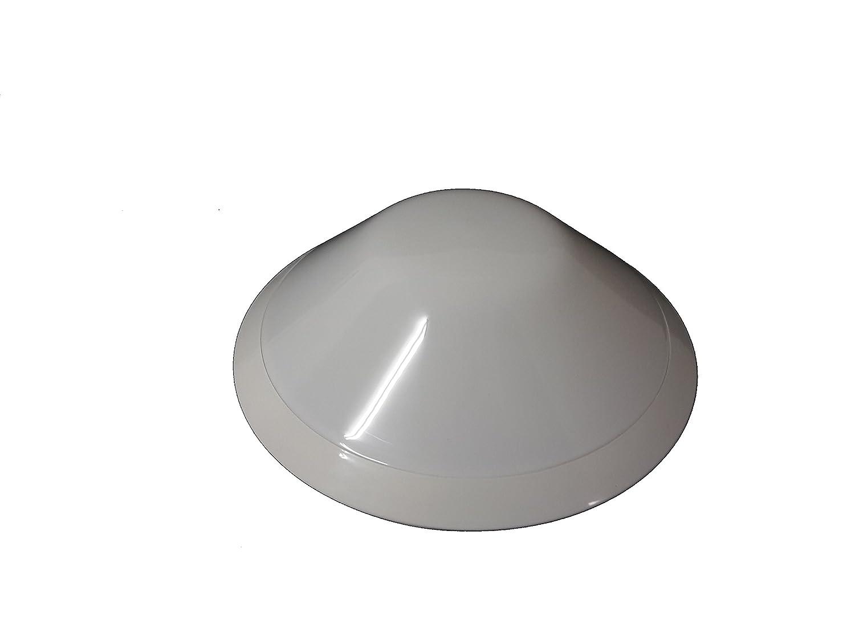 Lombardo plafoniera da esterno tonda bianca lb  cm