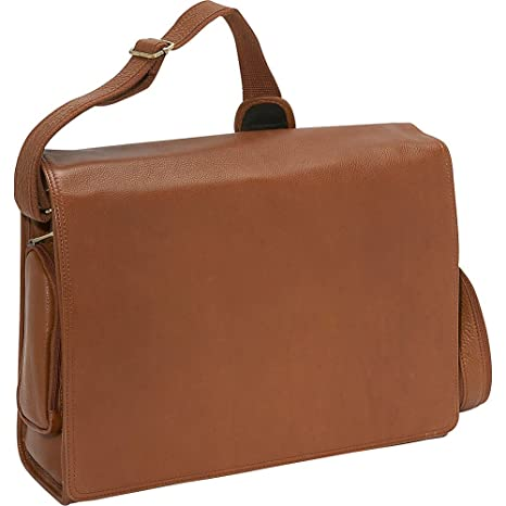 fc82be932eba Amazon.com  Bellino The Cancun Leather Computer Sling - Tan  Office Products