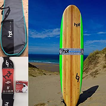 Hot Surf 69 8ft Soft Surfboard Package Deal  Amazon.co.uk  Sports ... 3d46165c9