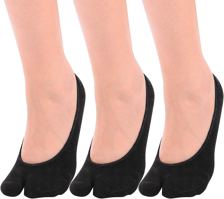Women's Split 2 Toe TABI Flip Flop Fashion Ankle Socks 7 Pairs Set