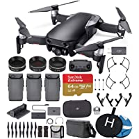 DJI Mavic Air Fly More Combo (Onyx Black) Ultimate Bundle - 3 Batteries, ND Filters, Extreme Memory Card, Landing Pad, Landing Gear and More