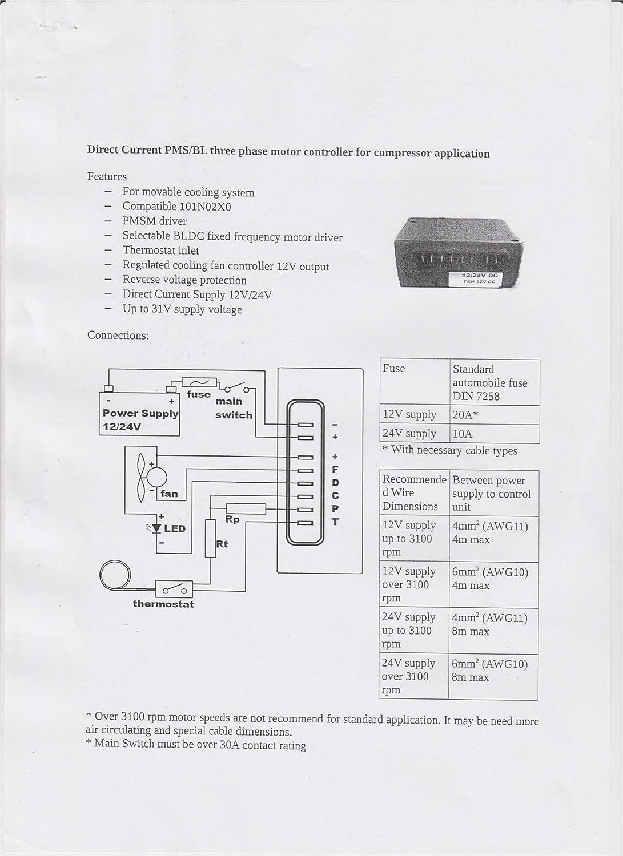 12V 4 Plug Electronic Unit BD2 - BD2 5 BD3 Danfoss SECOP Compressor
