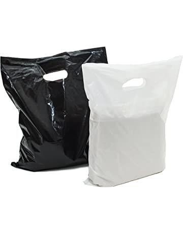 Merchandise Bags 16x18  100 Black and White 16x18