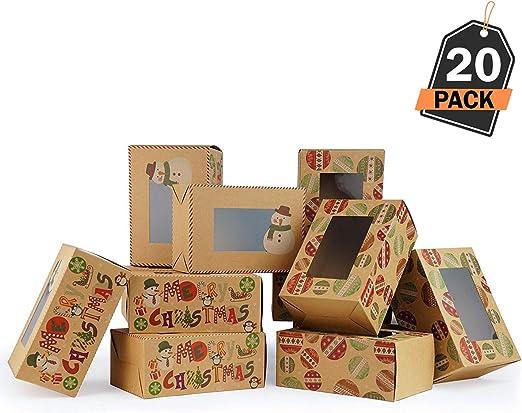20 Cajas de Regalo para Navidad – Cajas Kfraft para Galletas ...