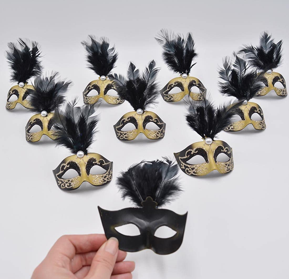 Amazon Com Yiseng Mini Masquerade Masks Party Decorations 12pcs