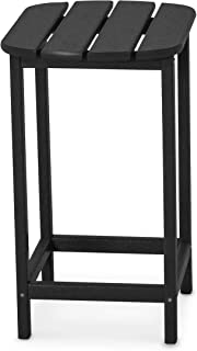 product image for POLYWOOD SBT26BL South Beach 26-Inch Counter Side Table, Black