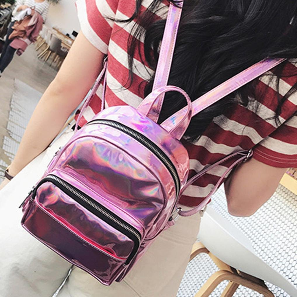 7d32701bee Amazon.com   GBSELL Women Girl Fashion Sparkle Backpacks Schoolbags Travel  Shoulder Bag (Pink)   Sports   Outdoors