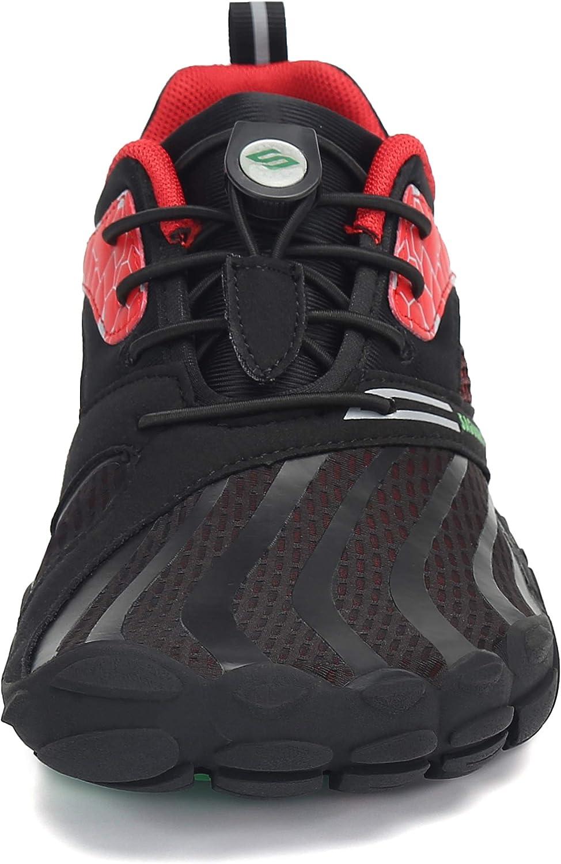 SAGUARO Hommes Femmes Antid/érapant Cinq Doigts Minimalistes Chaussures de Trail Running,GR 36-46