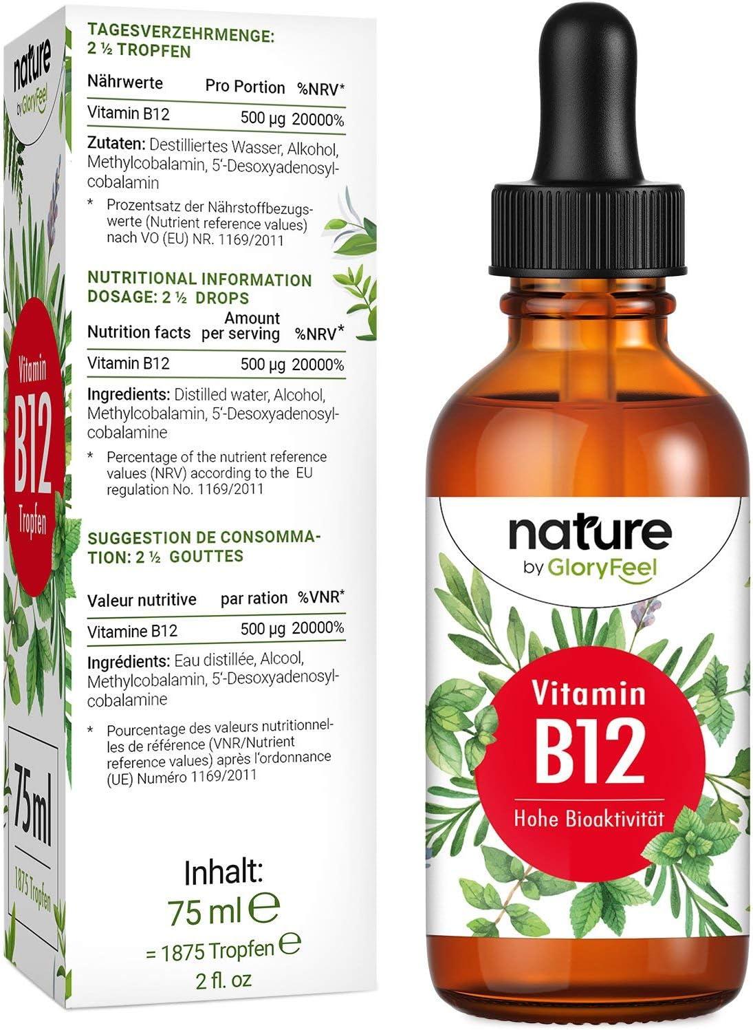 Vitamina B12 en gotas 75ml - 1000mcg B12 diarios- 1.875 Gotas ...
