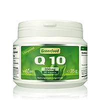 Greenfood Coenzym Q10, Ubiquinol (wasserlöslich!), 200 mg, hochdosiert, 90 Kapseln, vegan – das Original aus Japan. OHNE künstliche Zusätze, ohne Gentechnik.