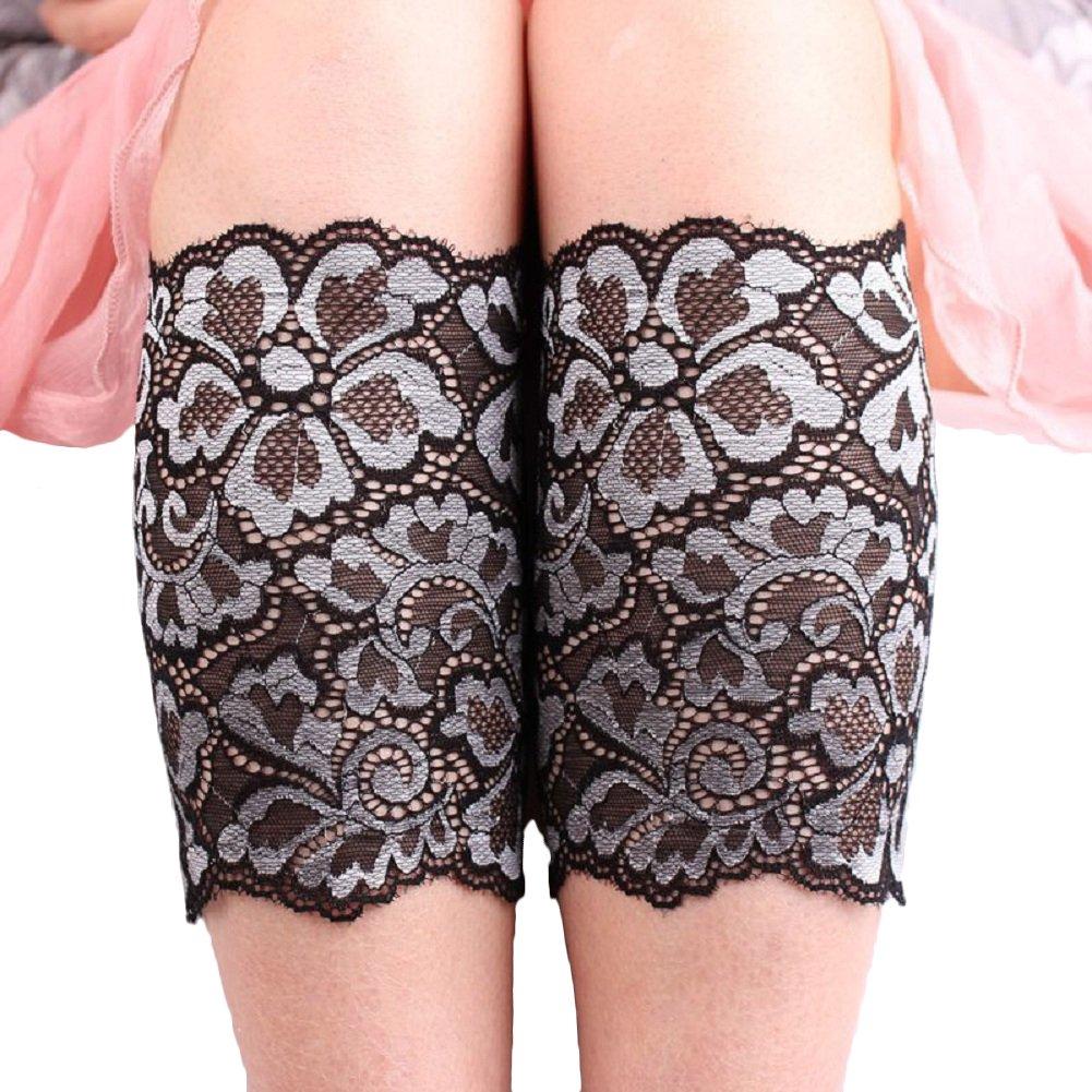 TININNA Nuovo pizzo elastico Calzino del merletto Leg imposta la moda Polsino di avvio Scaldino gambe Scaldamuscoli Argento