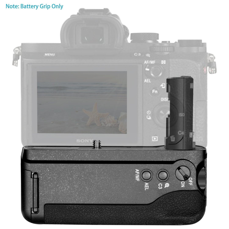 2/pezzi 1100/mAh FW50/sostitutiva Li-Ion batterie e caricatore doppio Neewer kit di batteria impugnatura verticale per Sony A7/II A7R II senza telecomando include vg-c2em replacement battery grip