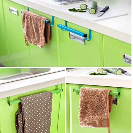 Over Door Bath Towel Rack Expandable Bar Organizer Hanger Kitchen Accessorie