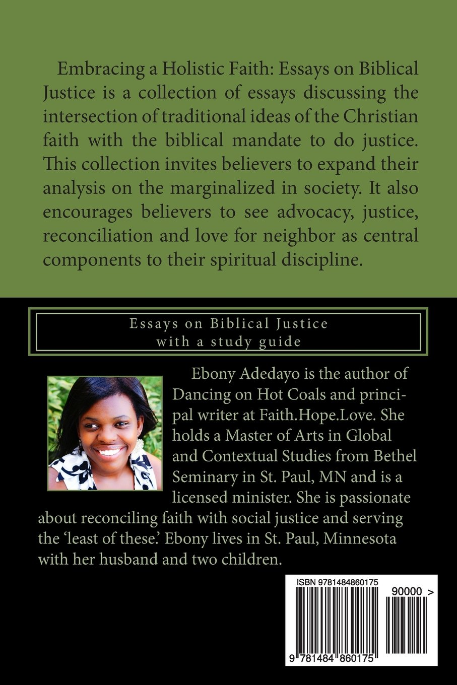 embracing a holistic faith ebony johanna adedayo  embracing a holistic faith ebony johanna adedayo 9781484860175 com books