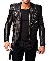 Prime Men's Slim Fit PU Leather Jacket MB-0A1