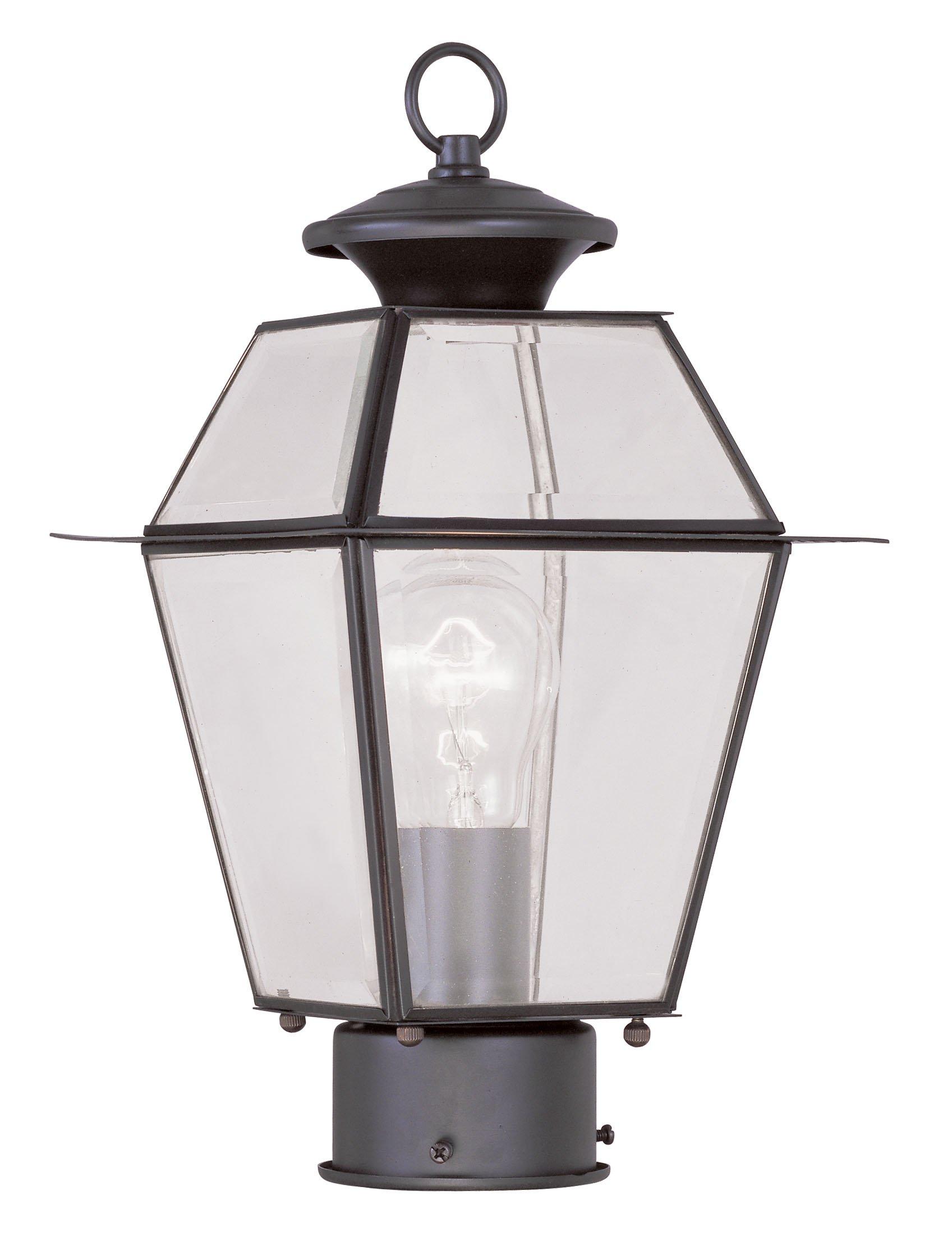 Livex Lighting 2182-07 Westover 1-Light Outdoor Post Head, Bronze