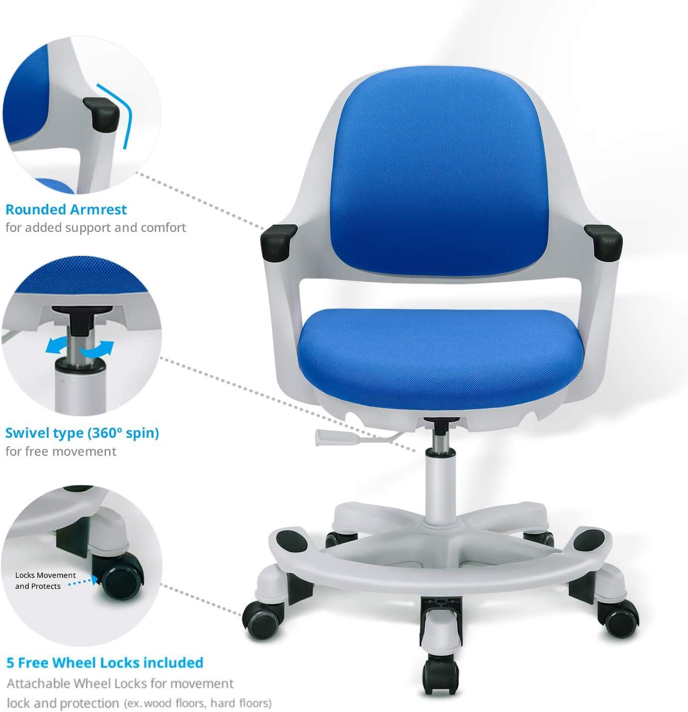 Children S Kids Desk Chair Height Adjustable Seat Control Student Study Office Seat Ocean Blue Amazon De Burobedarf Schreibwaren
