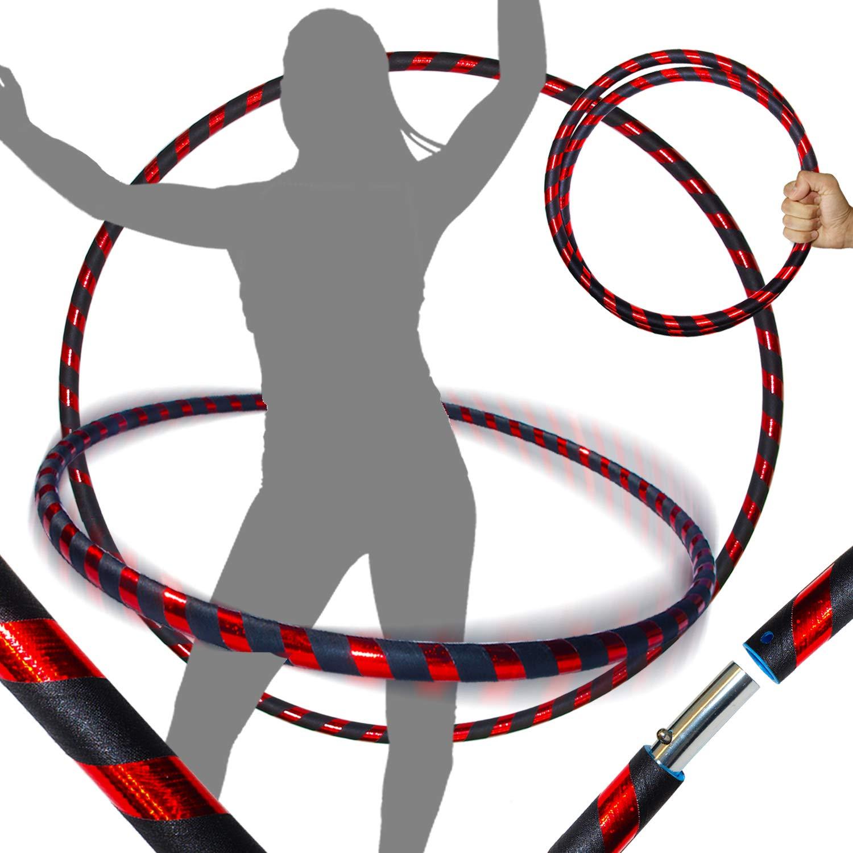 Faltbarer TRAVEL Hula Hoop ideal f/ür Hoop Dance! Gewicht 650g Blau // Lila Glitter 100cm//25mm Pro HULA HOOP Reifen f/ür Anf/änger und Profis 10 Farben Ultra-Grip//Glitter Deco Gr/ö/ße 100cm