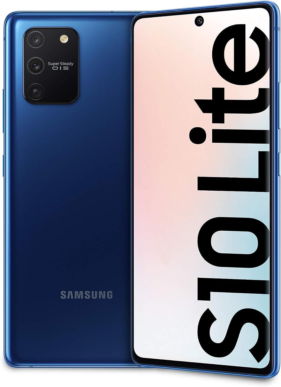 Samsung Galaxy S10 Lite - Smartphone 128 GB expandible, 8 GB de RAM, batería de 4500 mAh, 4G, Sim híbrido, Android 10, [versión italiana], Prism Blue