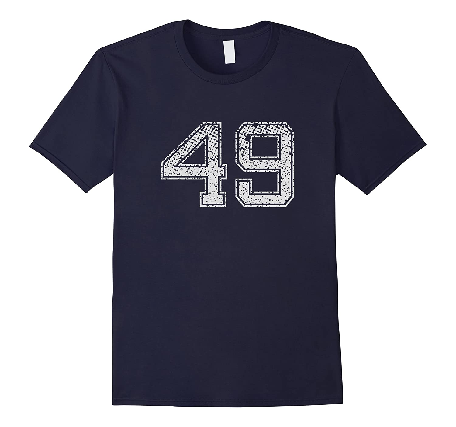 Number 49 T-Shirt Numbered retro Style Birthday Gift-FL