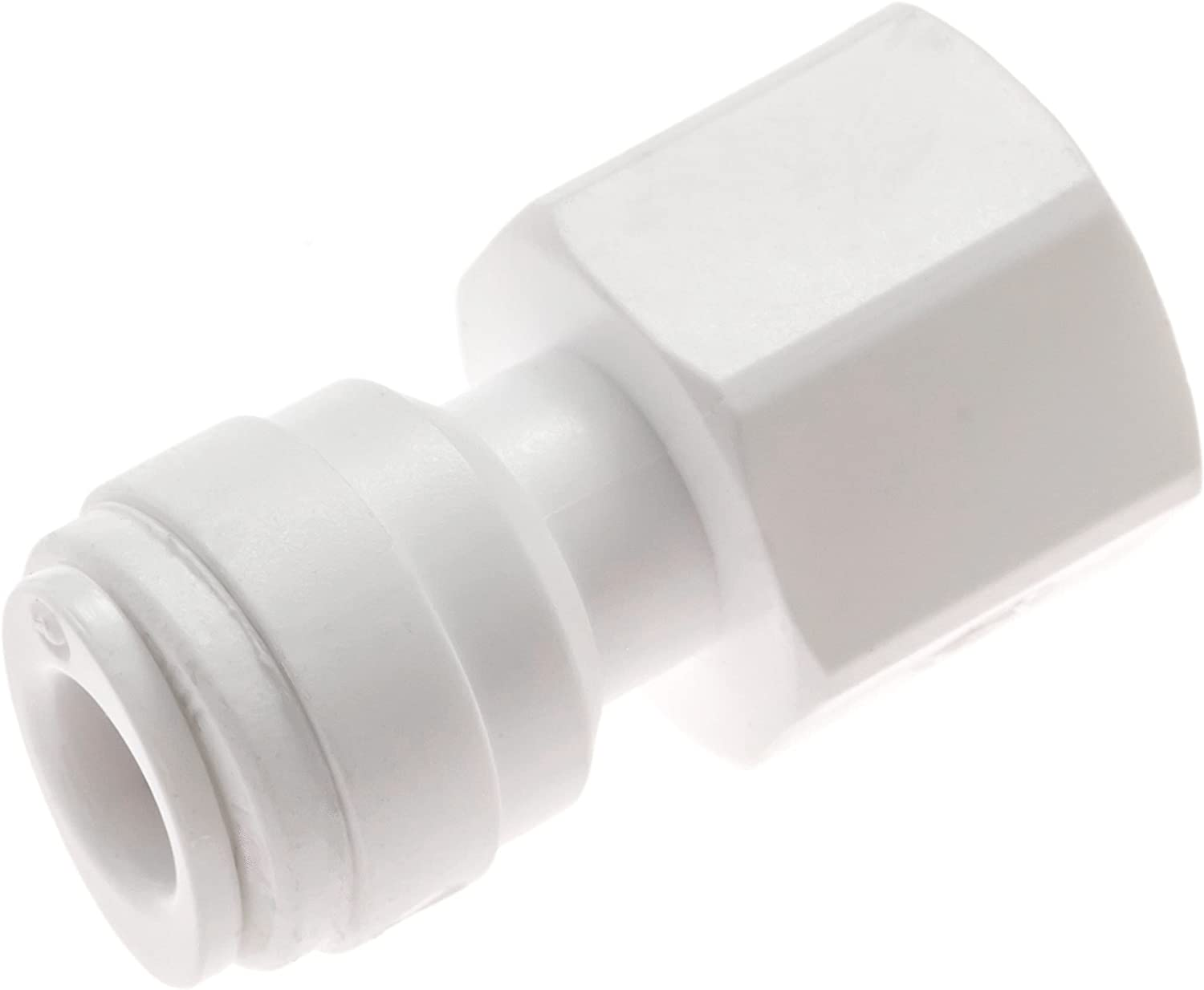 "Avanti 1/4"" tube to 1/4"" NPT Female Connector for drinking water filter RO reverse osmosis - 1/4"" tube x 1/4"" NPT Female quick-connect fittings - QF-FC0404 (Pack of 1)"