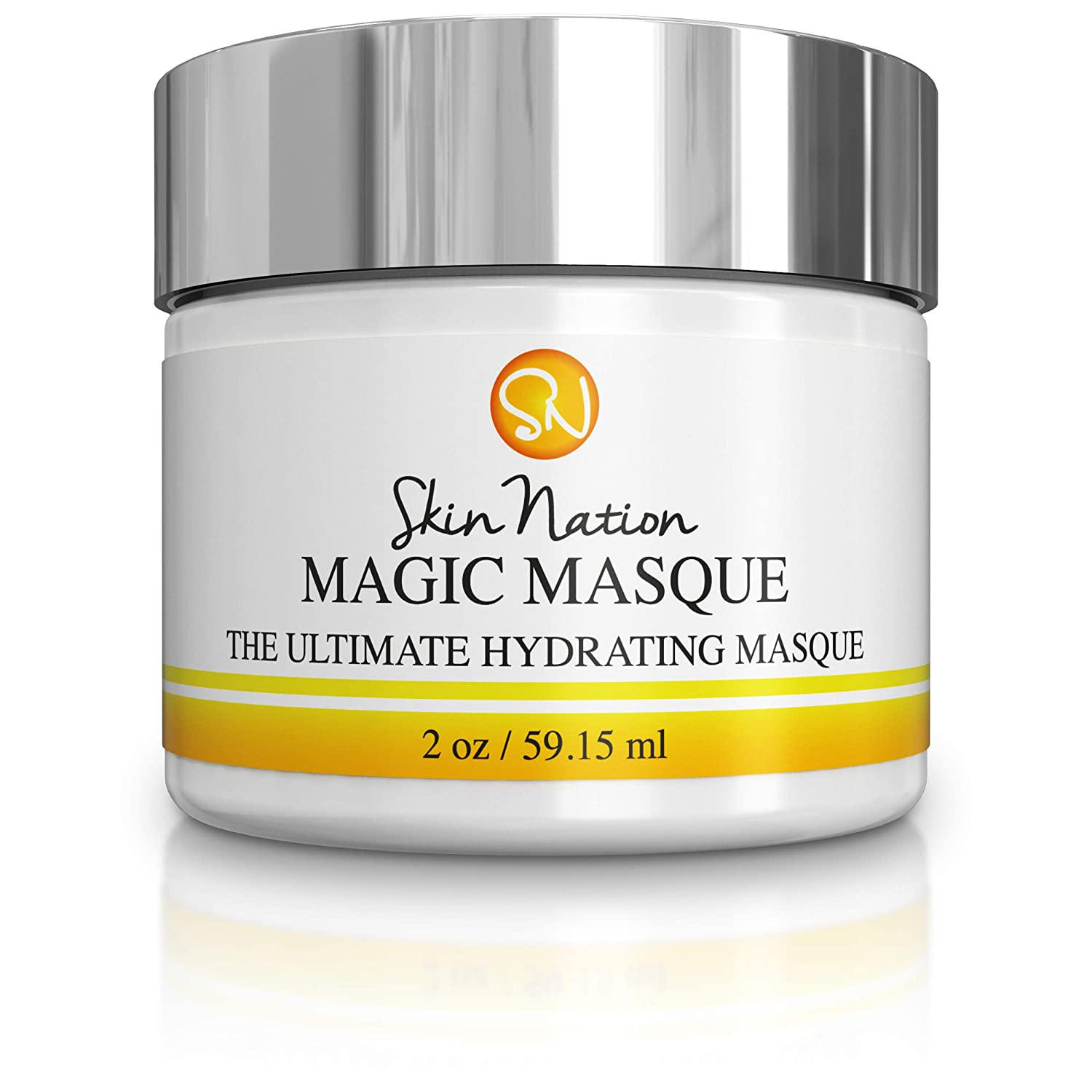 Magic Masque Face Mask | Hydrating Facial Mask, Pore Minimizer, Pore Cleansing, Skin Tightening, Anti Aging and Healing | Concentrated 2 oz. Aloe Vera Based | Skin Nation by Michelle Stafford