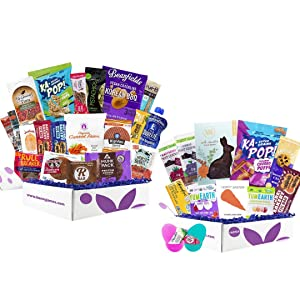 Healthy Snack Box Sampler with Healthy Easter Gift Box