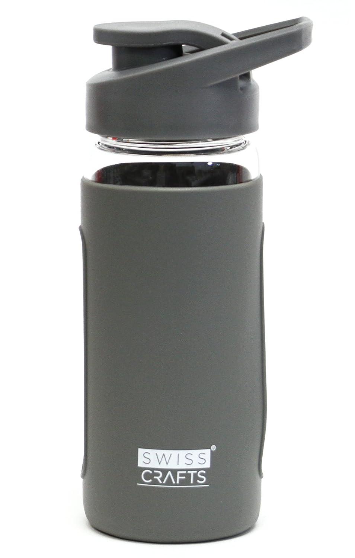 大特価放出! スイスCrafts SET 13.5ozガラス水ボトル – 保護用シリコンスリーブleak-proofキャップsleek-bpaフリー、Eco Friendly Toxic、non- Toxic グレー – Break Resistantホウケイ酸ガラス 1 SET グレー 1 SET グレー B07DX6NW28, 洛中高岡屋:bb5a6b55 --- a0267596.xsph.ru