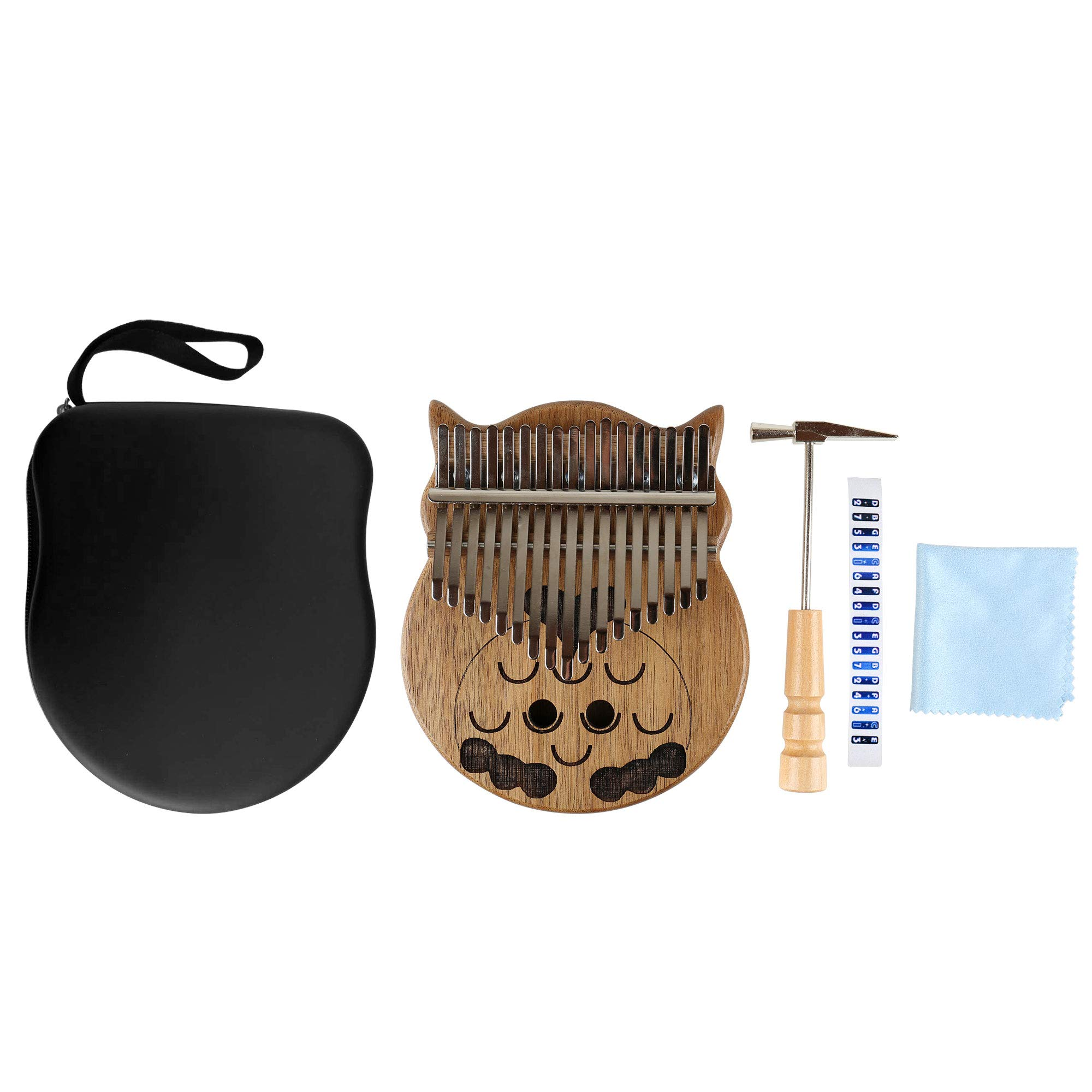 longdafeiUS Kalimba, Owl ThumbPianowith 17 Key Finger Piano Mbira Solid Walnut Wood Thumb Piano Finger Percussion Musical Gift by longdafeiUS (Image #7)