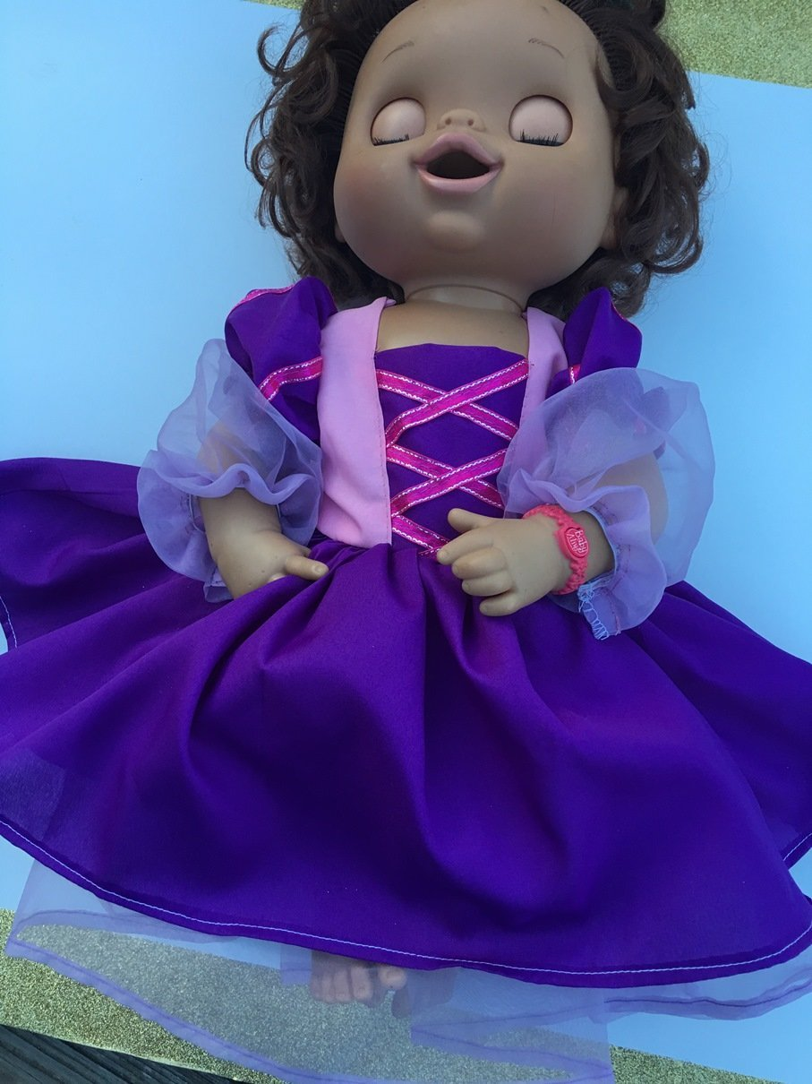 Fits Larger 15-16 Baby Alive Doll Clothes Princess Rapunzel Inspired Dress Halloween Costume NO DOLL
