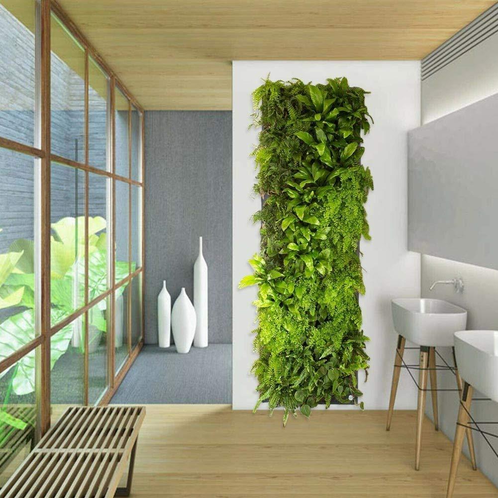feeilty Bolsas Planta Crece 7 De Bolsillo Planter Pared Vertical Hanging Garden Planta De Almacenamiento Yard Decoraci/ón
