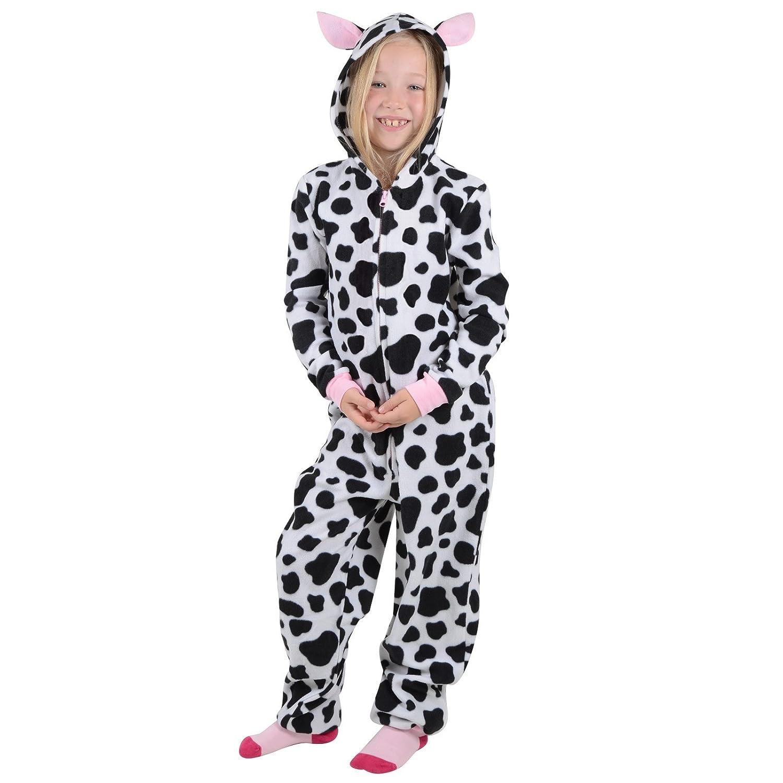 Roaster Toaster Girls Hooded Fleece All In One Piece Pyjamas Jump Sleep Suit Onesie PJ Nightwear