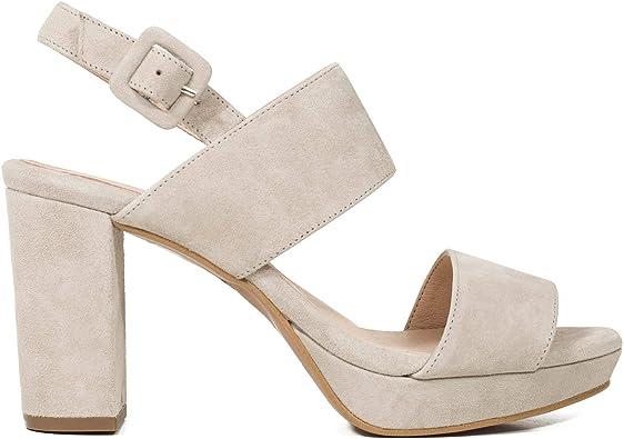 Plataforma Sandalia Mujer tacón Alto Gris: Amazon.es: Zapatos y complementos