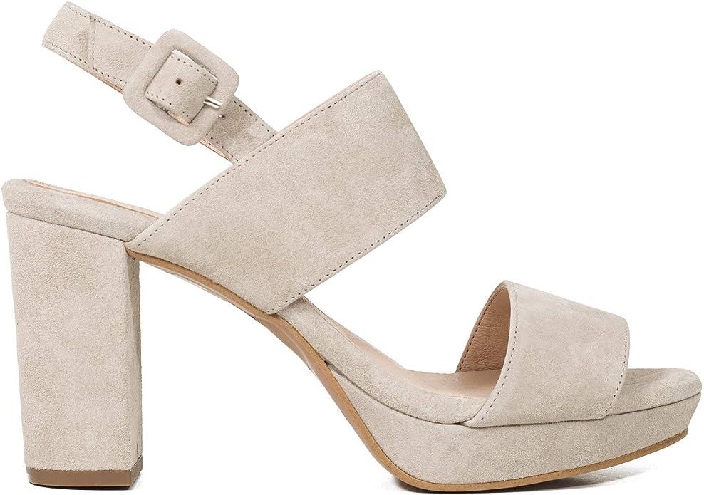 Plataforma Sandalia Mujer tacón Alto Gris: Amazon.es: Zapatos y ...