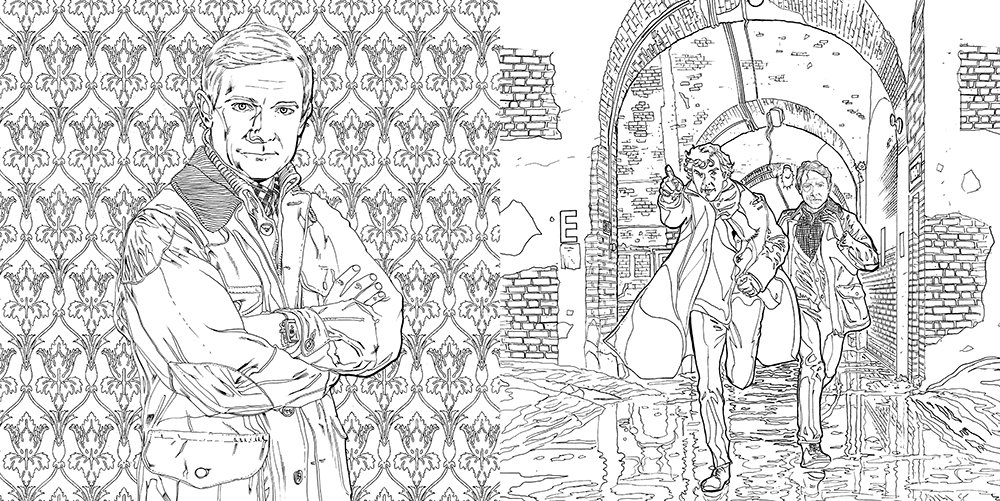 Amazon Sherlock The Mind Palace A Coloring Book Adventure