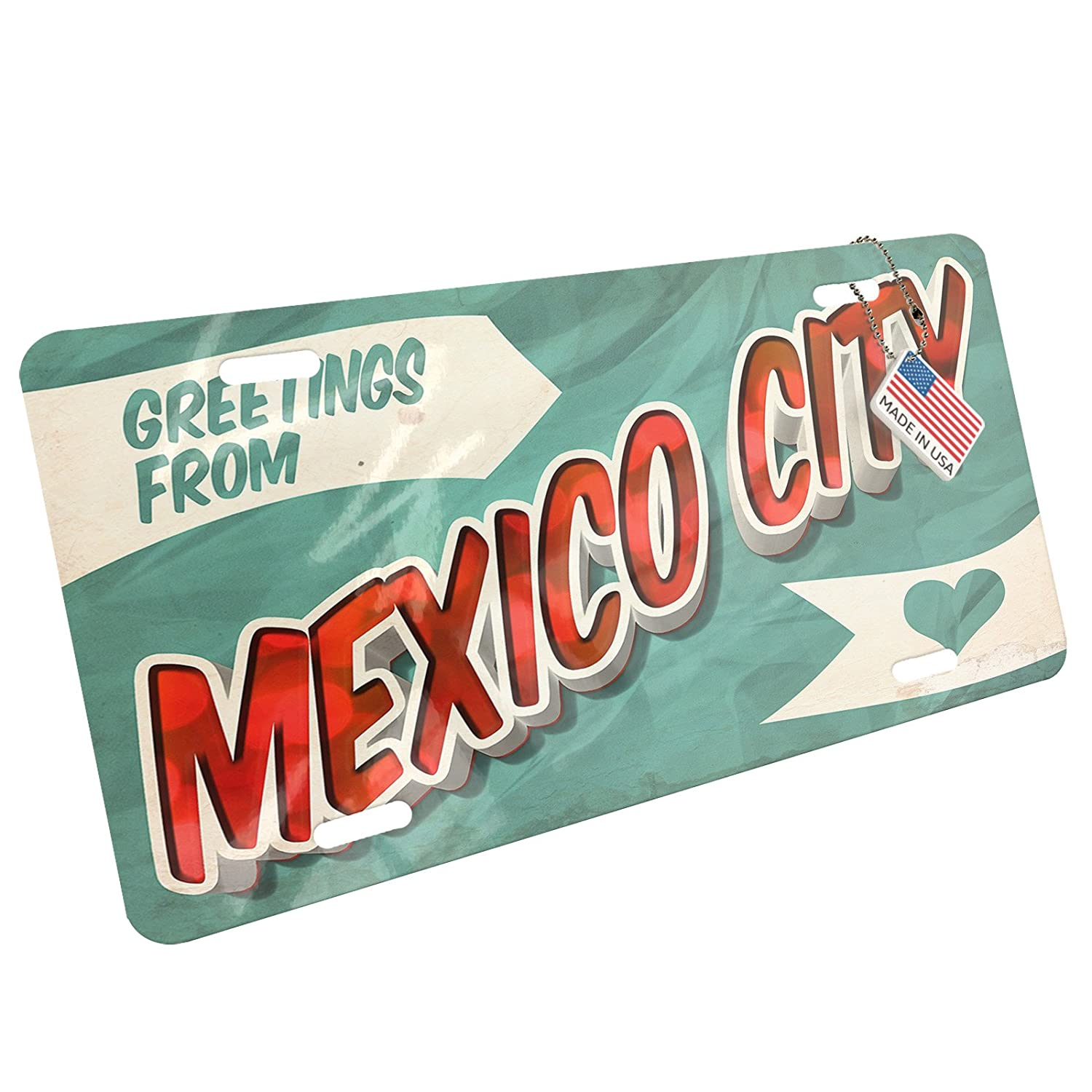Amazon Metal License Plate Greetings From Mexico City Vintage
