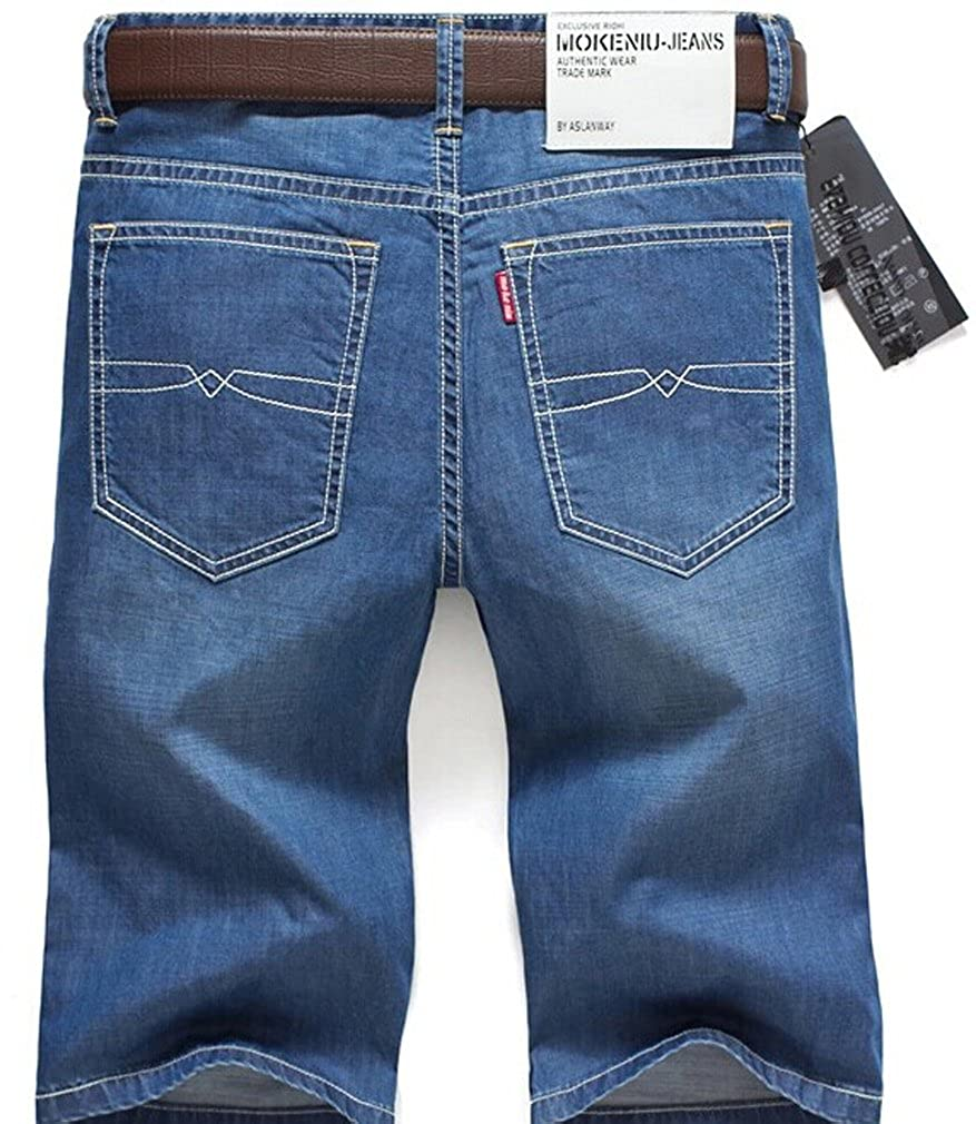 Mens Denim Shorts Relaxed and Fit Design,