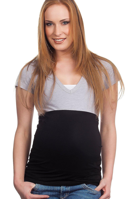 Elastische Umstandsmode R/ückenw/ärmer und Shirtverl/ängerung f/ür Schwangere Mamaband Schwangerschaft Bauchband f/ür die Babykugel 3erPack Jeanserweiterung