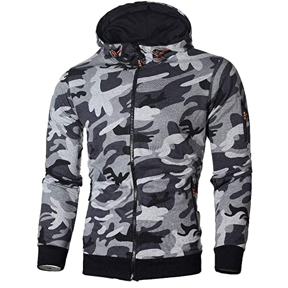 ZARLLE_Hombres Sudadera Sudaderas Hombre, Capucha Diseño Militar Camuflaje Sudadera con Capucha Camisas de Manga Larga Chaqueta Abrigos Outwear: Amazon.es: ...