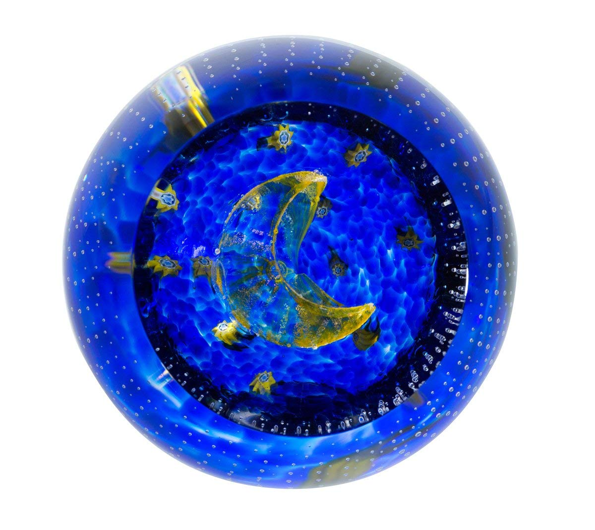 Caithness Glass Sentiments - to The Moon and Back Paperweight