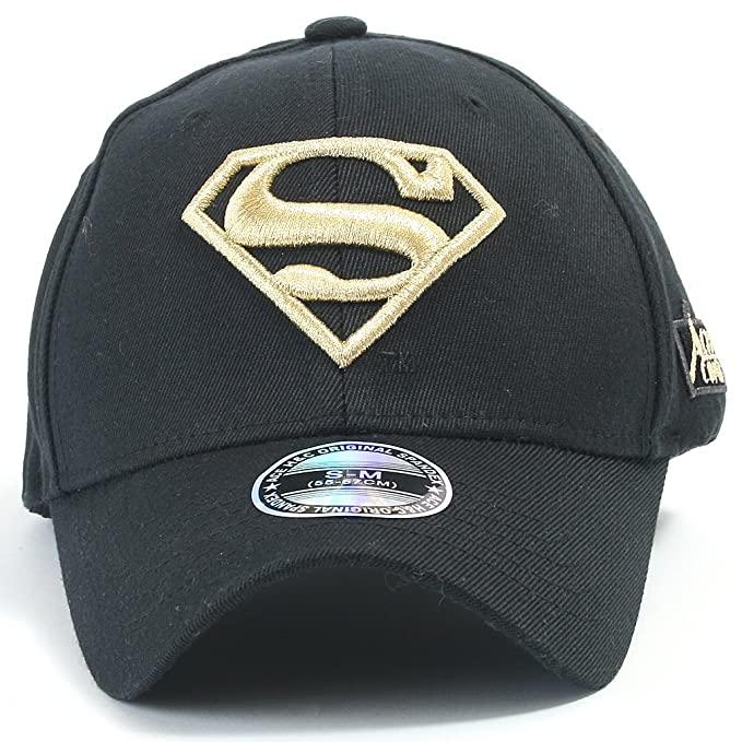 ff3324d46af ililily Superman Baseball Cap with Superman Shield Embroidery Fitted  Trucker Hat (ballcap-602-3-S)  Amazon.in  Clothing   Accessories