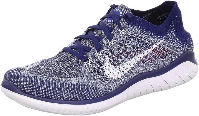 Nike Free RN Flyknit 2018 942838 402 Azul Void/Blanco/Azul Tint Hombres Zapatos Para Correr (13): Amazon.es: Zapatos y complementos