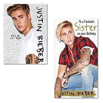 Justin Bieber 2017 Diary With Sister Birthday Card Amazon