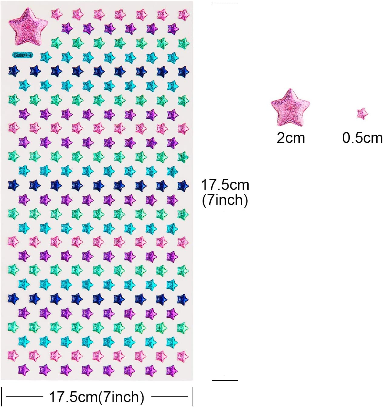 SAVITA 2000 4 Sheet Stick on Earrings 3D Gem Stickers Glitter Sparkle Crystal Stickers Sticker Earrings for Girls Multiple Colors /& Shapes
