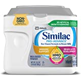 Similac Pro-Advance Non-GMO Infant Formula with Iron, with 2'-FL HMO, for Immune Support, Baby Formula, Powder, 23.2…