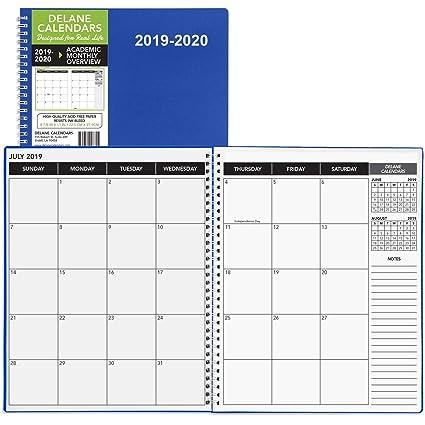 Delane 2019-2020 Anual Planner - 18 meses Académico Calendario ...