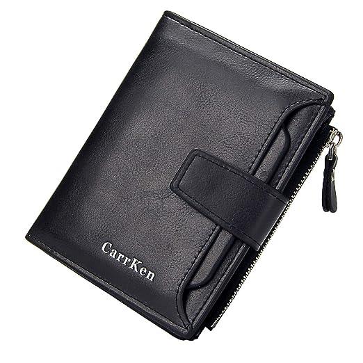 8840719d1174 GEEAD Small Wallets for Women Bifold Slim Coin Purse Zipper ID Card Holder