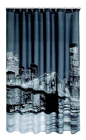 Leguana Rideau de douche motif Manhattan / New York avec anneaux 180 ...