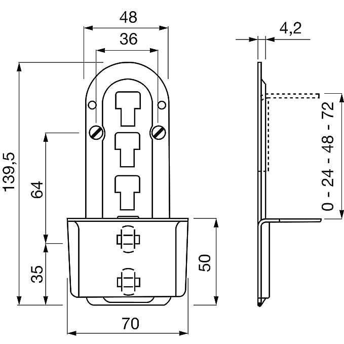 secotec cama Herraje ajustable 140 mm galvanizado amarillo SB 1 Pe, v105 a033s025: Amazon.es: Bricolaje y herramientas