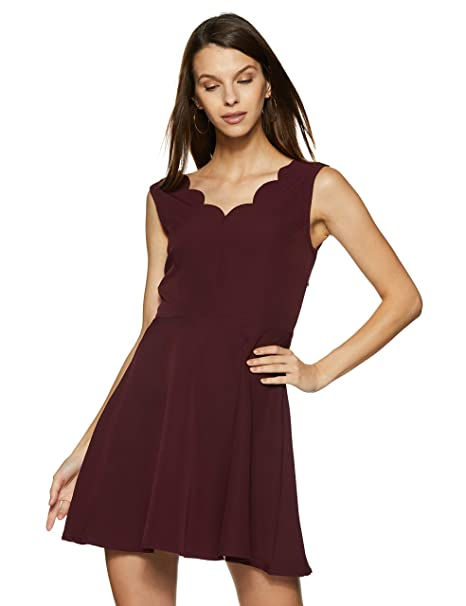 FabAlley Women s Skater Mini Dress  Amazon.in  Clothing   Accessories 2c6266dad